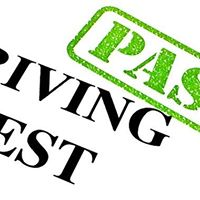 pass driving test sign